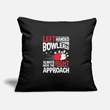 "Bowling Left Handed Bowling - Throw Pillow Cover 18"" x 18"""