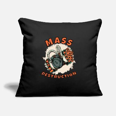 "Mass mass destruction - Throw Pillow Cover 18"" x 18"""