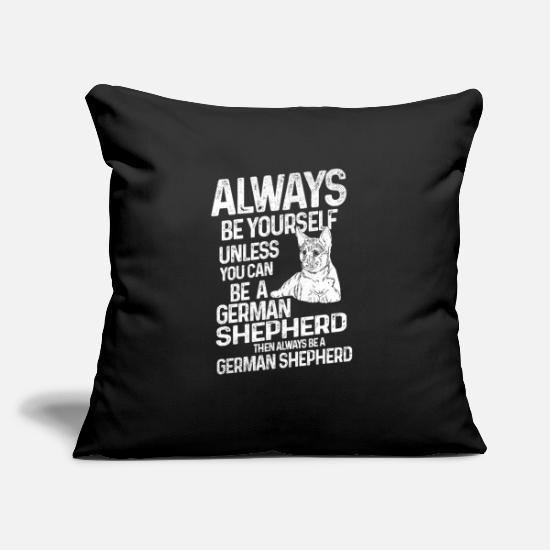 "Police Dog Pillow Cases - German shepherds - Throw Pillow Cover 18"" x 18"" black"
