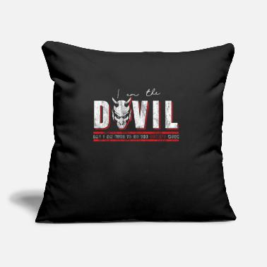 "Devil Horns Devil horn gift - Throw Pillow Cover 18"" x 18"""