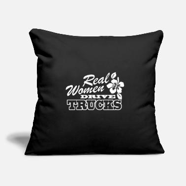 "Real Women Drive Trucks - Throw Pillow Cover 18"" x 18"""