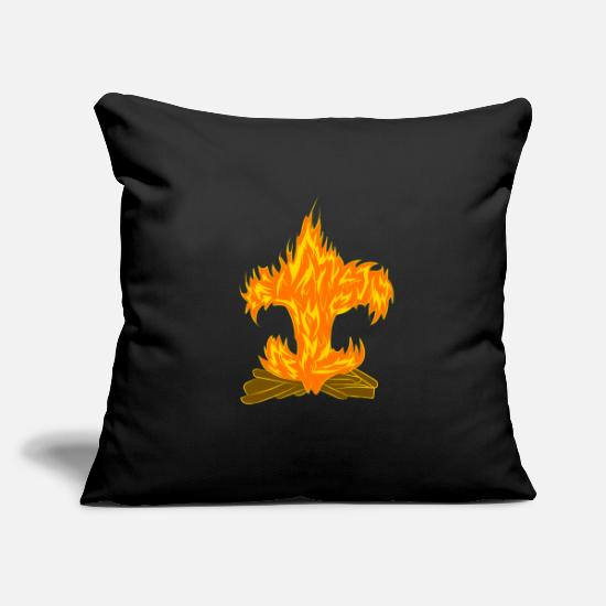 "Tent Pillow Cases - boy scout - pathfinder - Throw Pillow Cover 18"" x 18"" black"