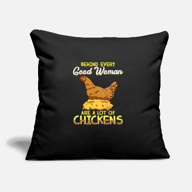 "Funny Chicken Chicken T-Shirt for Women Funny Lots of Chickens - Throw Pillow Cover 18"" x 18"""