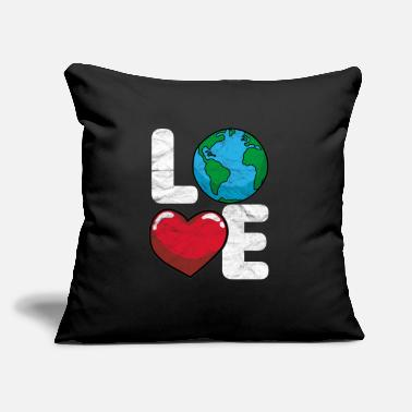 "Enviromental Love Earth - Throw Pillow Cover 18"" x 18"""