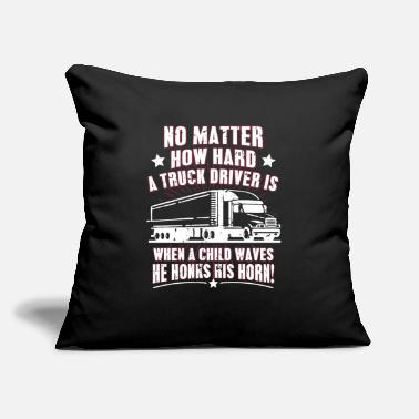 "Technology Tractor Shirt - Agriculture - Child waves - Throw Pillow Cover 18"" x 18"""