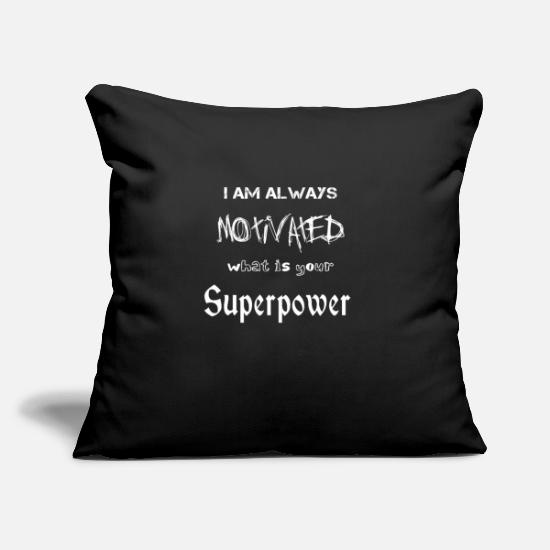 "Motivational Pillow Cases - Motivation Motivation Motivation Motivation Motiva - Throw Pillow Cover 18"" x 18"" black"