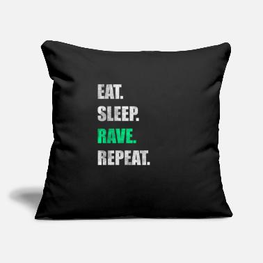 "Rave Rave Raver Raving - Throw Pillow Cover 18"" x 18"""