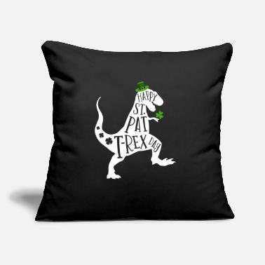 "Ireland Happy St Pat T-Rex Day Dinosaur Shamrock St - Throw Pillow Cover 18"" x 18"""