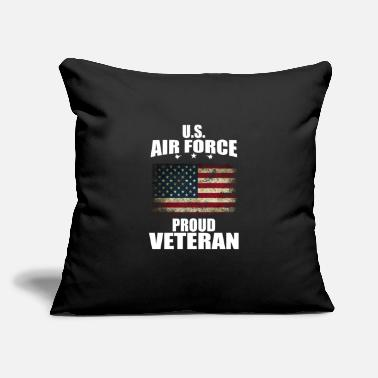 "Air Boat U.S Air force, proud Veteran, gift, birthday - Throw Pillow Cover 18"" x 18"""