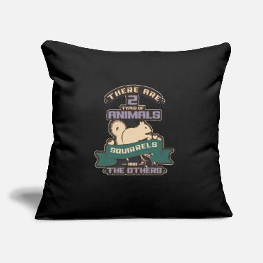 "Squirrel Squirrel - Throw Pillow Cover 18"" x 18"""
