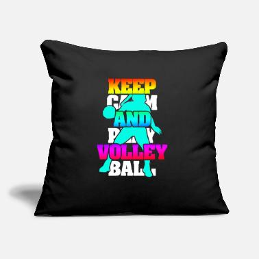 "Court Keep Calm And Play Volleyball - Throw Pillow Cover 18"" x 18"""