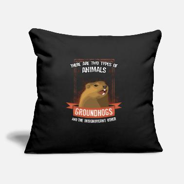 "Groundhog Groundhog - Throw Pillow Cover 18"" x 18"""