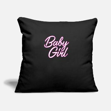 "Baby Baby Girl graphic | Babygirl Kinky Adult BDSM - Throw Pillow Cover 18"" x 18"""