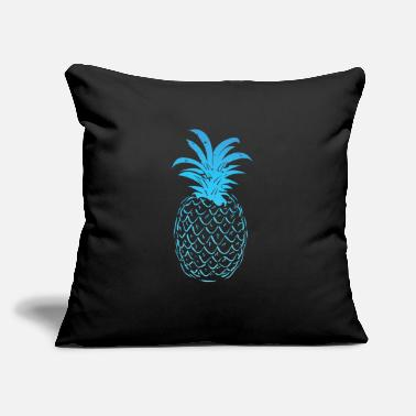 "Sour Pineapple Blue Gradient - Throw Pillow Cover 18"" x 18"""