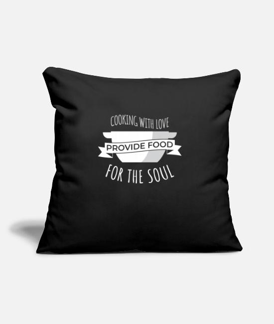 "Occupation Pillow Cases - Cook Cooking Kitchen Cook Restaurant Cook - Throw Pillow Cover 18"" x 18"" black"