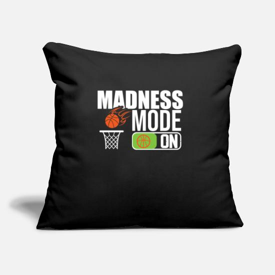 "Play Pillow Cases - Madness mode on - Throw Pillow Cover 18"" x 18"" black"