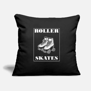 "Roller Skates Roller Skates Roller Skating - Throw Pillow Cover 18"" x 18"""