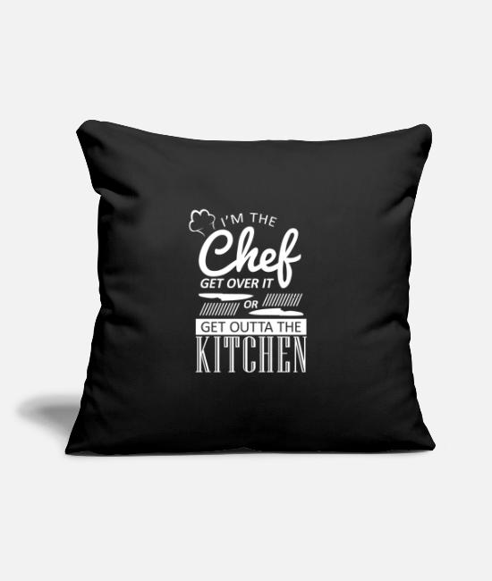 "Restaurant Pillow Cases - Cook Cooking Kitchen Cook Restaurant Cook - Throw Pillow Cover 18"" x 18"" black"