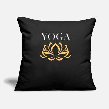 "Exercise Yoga Lotus Flower - Throw Pillow Cover 18"" x 18"""
