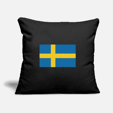 "Sweden Flag of Sweden, flag Sweden, Sweden flag - Throw Pillow Cover 18"" x 18"""