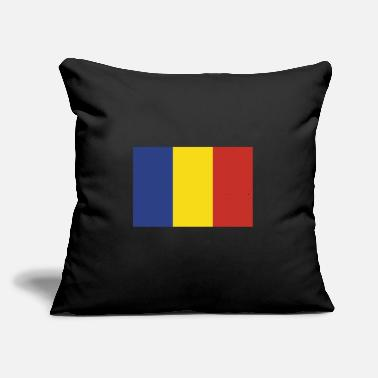 "Romania Flag of Romania, Romanias flag, flag Romania - Throw Pillow Cover 18"" x 18"""