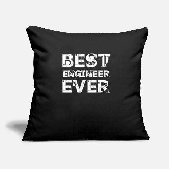 "Civil Engineering Pillow Cases - Engineer Technician Engineer Civil Engineering - Throw Pillow Cover 18"" x 18"" black"