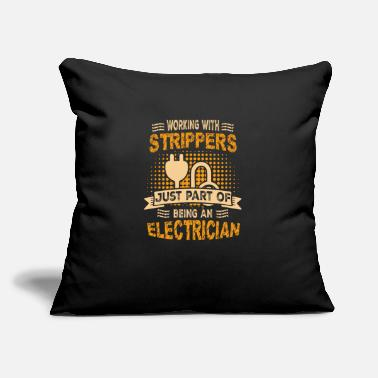 "I Love &amp Electrician Tool Cable Electricity Gift - Throw Pillow Cover 18"" x 18"""
