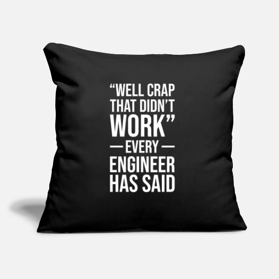 "Engineer Pillow Cases - Engineer Technician Engineer Civil Engineering - Throw Pillow Cover 18"" x 18"" black"