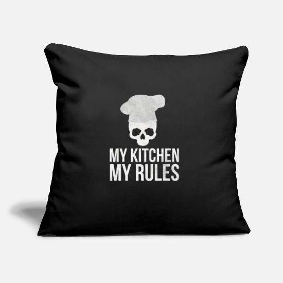"Cooking Pillow Cases - Cook Cooking Kitchen Cook Restaurant Cook - Throw Pillow Cover 18"" x 18"" black"