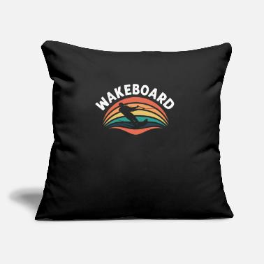 "Wakeboard Wakeboard - Throw Pillow Cover 18"" x 18"""