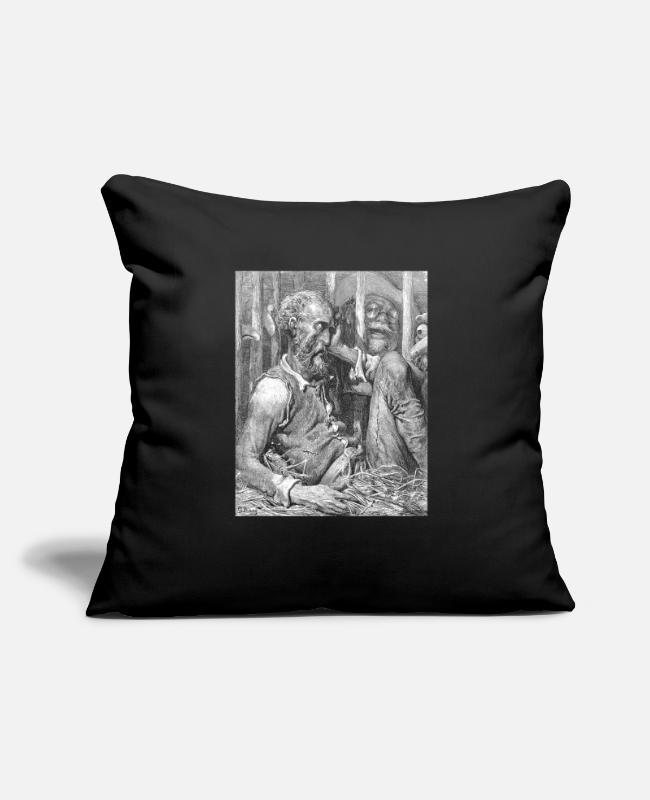 "Art Pillow Cases - Don Quixote graphic | Quijote by Cervantes - Fine - Throw Pillow Cover 18"" x 18"" black"
