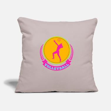 "Beach Volleyball Volleyball - Beach Volleyball - Throw Pillow Cover 18"" x 18"""