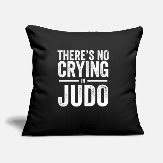 "Japan Pillow Cases - Judo - Throw Pillow Cover 18"" x 18"" black"