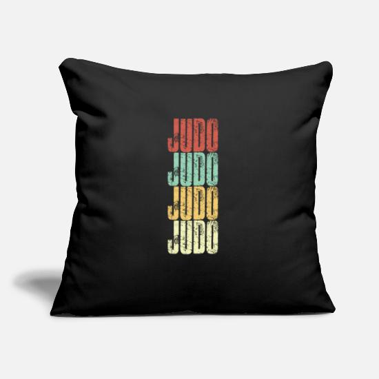 "Japan Pillow Cases - Judo Vintage - Throw Pillow Cover 18"" x 18"" black"