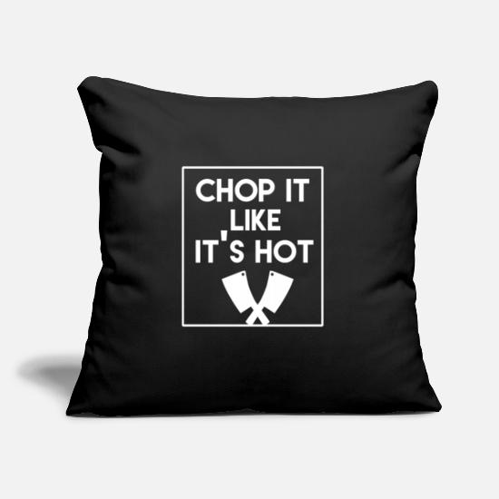"Gift Idea Pillow Cases - Cook Cooking Kitchen Cook Restaurant Cook - Throw Pillow Cover 18"" x 18"" black"