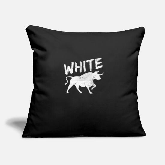 "Animal Rights Activists Pillow Cases - Buffalo Animal - Throw Pillow Cover 18"" x 18"" black"