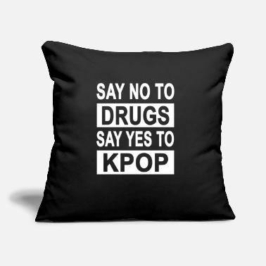 "Korea Pop Music Kpop K-pop Korean Pop Funny Korea Gift - Throw Pillow Cover 18"" x 18"""