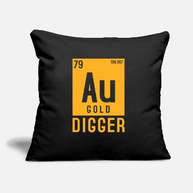 "Gold Gold Au Periodic Table Elements - Throw Pillow Cover 18"" x 18"""