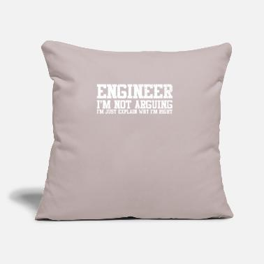 "Engine Engineer Technician Engineer Civil Engineering - Throw Pillow Cover 18"" x 18"""