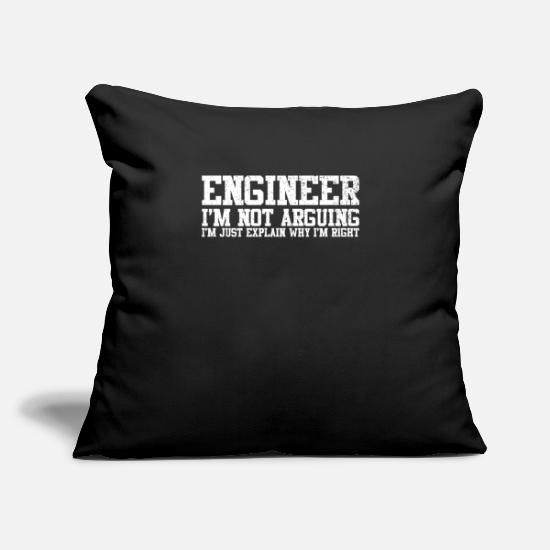 "Technician Pillow Cases - Engineer Technician Engineer Civil Engineering - Throw Pillow Cover 18"" x 18"" black"