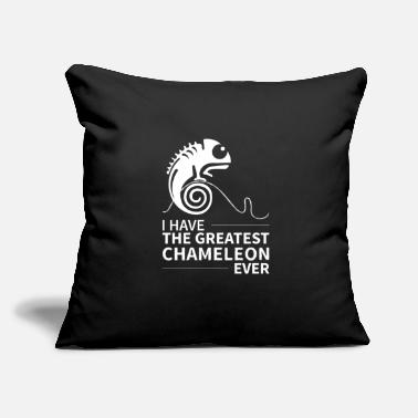 "Chameleon Chameleon Colourful Reptile Colours - Throw Pillow Cover 18"" x 18"""