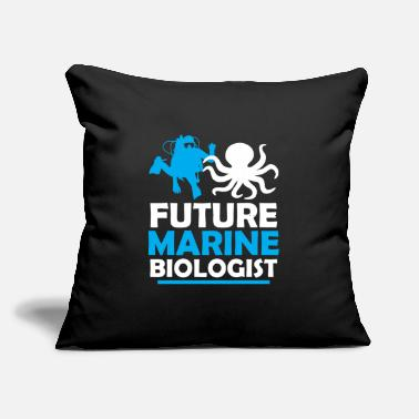 "Marine Funny Novelty Gift For Marine Biologist - Throw Pillow Cover 18"" x 18"""