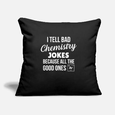 "Periodic Table Chemistry joke - Throw Pillow Cover 18"" x 18"""