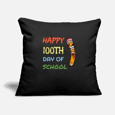 "Happy Childrens Day Happy 100th days of school pencil children shirt - Throw Pillow Cover 18"" x 18"""