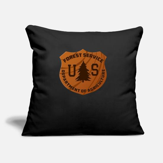 "Lumberjack Pillow Cases - Forester Forestry Major Lumberjack Joke Woodworker - Throw Pillow Cover 18"" x 18"" black"
