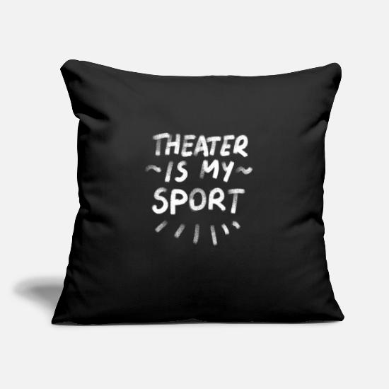 "Theater Pillow Cases - Theater Sport Acting Stage Actor Musical Movie - Throw Pillow Cover 18"" x 18"" black"