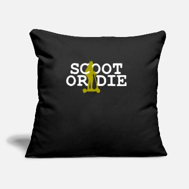 "Scooter Scootering Scooter - Throw Pillow Cover 18"" x 18"""