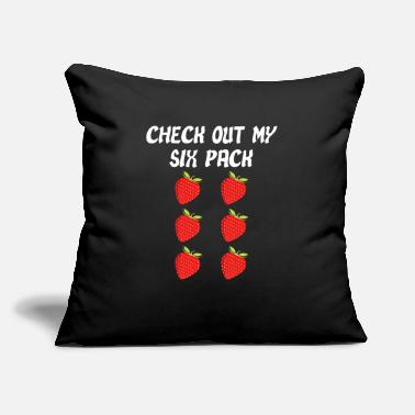 "Out Check Out My Six Pack Strawberries - Throw Pillow Cover 18"" x 18"""