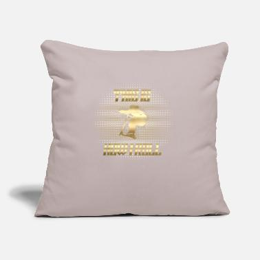 "Scooter Scootering Gold Roll - Throw Pillow Cover 18"" x 18"""