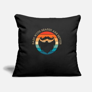 "Beard Bearded Beard - Throw Pillow Cover 18"" x 18"""